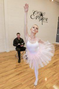 Redhead ballerina