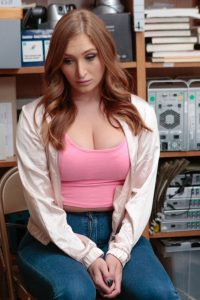 Skylar Snow sits at the office