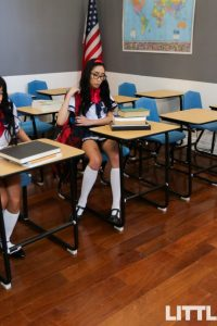 Ember Snow and Eva Yi in the classroom
