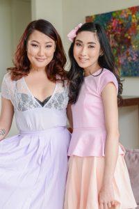 Eva Yi and Jade Luv after shopping