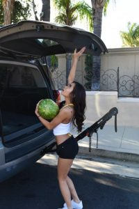 Vina Sky gets the watermelon