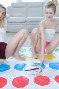Chloe Temple & Riley Star playing Twister
