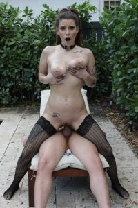 Oily cock riding at TItty ATtack