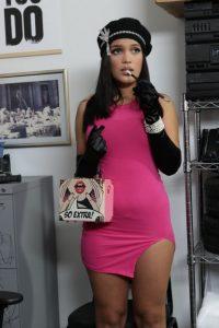 Curvy Latina busted