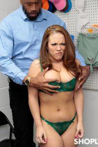 Grabbing Carmen Valentina's amazing boobies